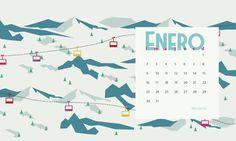 Calendario descargable: Enero 2017 #wallpaper para escritorio, tablet y móvil http://www.silocreativo.com/calendario-descargable-enero-2017/