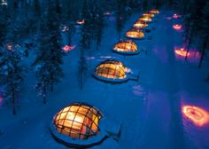 Ice Igloos in Finland  via Odd Inns and Uncommodations
