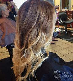Ombre hair color.
