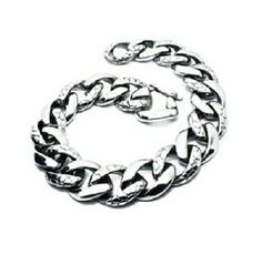 Dragon Skin Carved 2 Tone Bracelet Titanium Steel - Gelang Pria  Features: 100% Brand new and high quality Cool jewelry Make of High Quality Stainless steel Never Rust Make you charmer. Good for going party! Great gifts for your friends or even yourself!  Specifications: Type: Bracelet Hand Chain Style: Unique Fashion Cool Material: Titanium steel Color: Silver Size: 20cm  15mm. weight : 50gr (approx.) Logam ini memiliki karakteristik tidak berkarat tidak berubah warna tidak menimbulkan…
