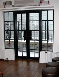 this is a great way to replace a sliding glass patio door shown