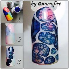 Маникюр пошагово Creative Nail Designs, Colorful Nail Designs, Creative Nails, Nail Art Designs, Glam Nails, 3d Nails, Love Nails, Beauty Nails, Cute Nail Art