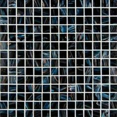 MS International Elixir 12 in. x 12 in. Iridescent Midnight Blue Mesh-Mounted Glass Mosaic Tiles 3/4 in. x 3/4 in.