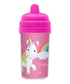 Look at this Rainbow Unicorn Personalized Sippy Cup on #zulily today!