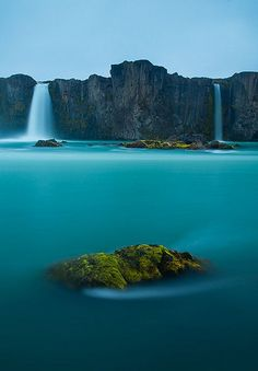 Waterfall of the Gods, Iceland // blue water // natural wonders // Europe // mist // paradise // exotic travel destinations // dream vacations // places to go Places Around The World, Oh The Places You'll Go, Places To Travel, Travel Destinations, Places To Visit, Around The Worlds, Travel Tips, Travel Hacks, Travel Photos
