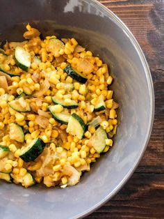 New Mexico Calabacitas Recipe - Jessica Lynn Writes Calabacitas Recipe, Food Chopper, Non Stick Pan, Taco Tuesday, Side Dishes Easy, Shredded Chicken, Serving Dishes, New Mexico, Bowl Set