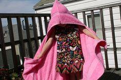 Just Crafty Enough – Project – Kid's hoodie bath towel