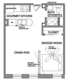 floor plans for small spaces - Google Search