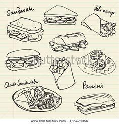 sandwich drawing chalkboard - Google zoeken