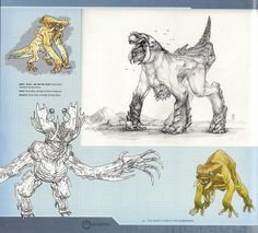 Guy Davis - Kaiju Concept Art for Pacific Rim - gods and monsters