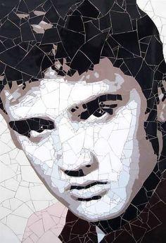 Ed Chapman Mosaic Wall, Mosaic Glass, Mosaic Tiles, Mosaic Crafts, Mosaic Projects, Mosaic Rocks, Mosaic Portrait, Mosaic Madness, Pebble Painting