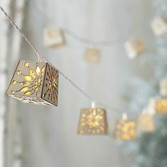 Wood Cut Snowflake lights