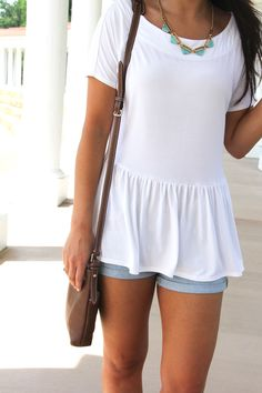 Sweet Tee // White T-Shirt with a Twist