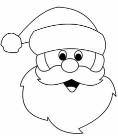 7 best images of santa claus face template printable santa face template printable santa beard countdown to christmas craft and blank santa face clip art