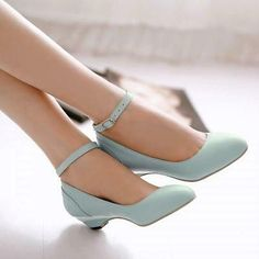 Womens Kitten Heel Ankle Strap Retro Mary Janes Casual Leather Shoes New Spring Kitten Heel Shoes, Low Heel Shoes, Low Heels, Women's Shoes, 50s Shoes, Kitten Heel Wedding Shoes, Golf Shoes, Dance Shoes, Mary Jane Heels