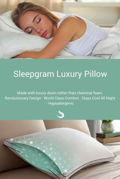 The most inexpensive luxury pillow on the market. Guaranteed to be the best pillow you ever sleep on, or your money back! Re-discover your beauty sleep with Sleepgram.