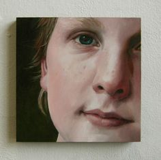 Jan Wisse, 2013, Portrtait oil on panel, 15 x 15 cm commissioned private collection, Koudekerk a/d Rijn.