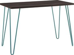 Altra Owen Retro Desk, Espresso/Teal
