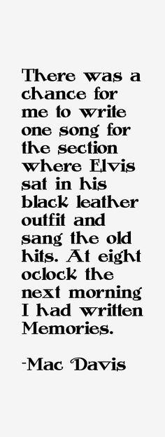 Mac Davis ~ 1968 NBC TV Special  - Elvis Presley