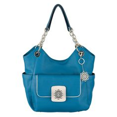 #GraceAdele Ocean Carly Bag, Quinn Clutch, margueite medallion, Marguerite Clip-on.  Complete look $325