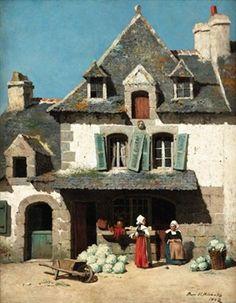 Vieille maison a Pont-Aven par Burr H. Nicholls