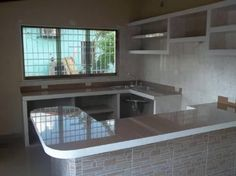 cocinas en cemento y ceramica - Buscar con Google | cocinas y ...