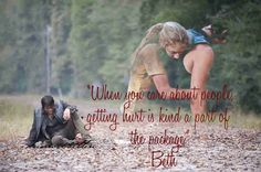 The Walking Dead beth quote
