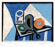 still life picasso | Pablo Picasso, Nature morte à l'aubergine (Still Life with Eggplant ...