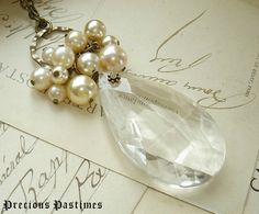 CHAMPAGNE BUBBLES  Chandelier Crystal Necklace by PreciousPastimes, $58.50