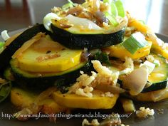 Summer Squash with Caramelized Garlic & Shallots