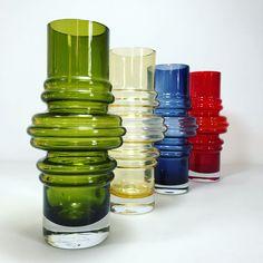 Blue Glass Vase, Purple Glass, Red Glass, Glass Art, Turquoise Glass, Modern Glass, Color Splash, Shot Glass, Vases