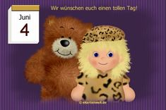 Juni, Teddy Bear, Toys, Tricks, Animals, Night, Day Of Year Calendar, February, Activity Toys