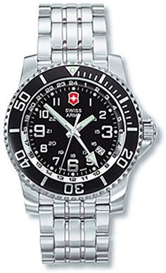 Victorinox Swiss Army Men's Maverick II 2nd Time Zone Watch #24701 Stylish Watches, Watches For Men, Victorinox Swiss Army, Swiss Army Watches, Time Zones, Army Men, Green Accents, Stainless Steel Case, Quartz