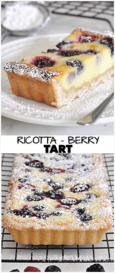 Brighten up your day with this amazing tart made with sun-kissed ripe berries, delicate and rich ricotta cheese, over a buttery and crumbly crust desserts, Made-from-Scratch Ricotta and Berry Tart Dessert Aux Fruits, Pie Dessert, Dessert Recipes, Ricotta Dessert, Desserts With Ricotta Cheese, Dinner Dessert, Fruit Tart Recipes, Raspberry Ricotta Cake, Ricotta Tart Recipe