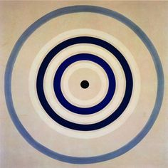 """Kenneth Noland ~ Spring Cool, 1962 (mandala).  invented a new kind of American abstraction based on the primacy of color. It had some of the philosophic underpinnings of Abstract Expressionism, but without the Sturm and Drang. """"""""Mr. Noland has been consistent and unvarying — not to say single-minded — in his artistic purpose, which has been to fill the canvas surface with a pictorial experience of pure color."""""""