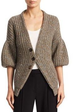 Brunello Cucinelli Sequin Cashmere Cardigan. Cardigan sweater fashions. I'm an affiliate marketer. When you click on a link or buy from the retailer, I earn a commission.