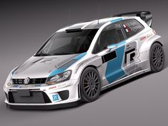 Volkswagen Polo Rally Car 3D 3Ds - 3D Model
