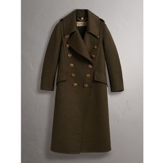 Burberry Bird Button Cashmere Wool Military Coat (97 755 UAH) ❤ liked on Polyvore featuring outerwear, coats, cashmere coats, brown cashmere coat, burberry, lapel coat and military coats