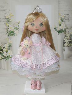 Купить Принцесса - бледно-розовый, коллекционная кукла, интерьерная кукла, кукла ручной работы, принцесса