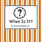 This adapted book is great to work on the 'when' question. This book works on the essential skills of making inferences, vocabulary, and question a...