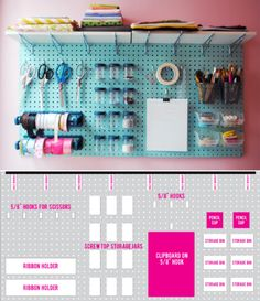 'Craft Room Pegboard...!' (via invisible inc.)