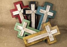 Rustic Wood Cross - Wall Decor by TinkerDos on Etsy