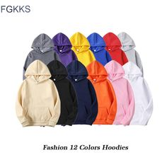 Sale FGKKS Quality Brand Men Hoodie 2020 Autumn Hip Hop Streetwear Men Pullover Sweatshirts Hoodies Mens Solid Color Hoodie Male