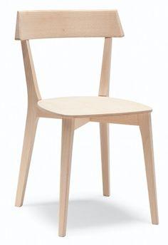 Chaises en bois pour restaurant Ariston - Sledge