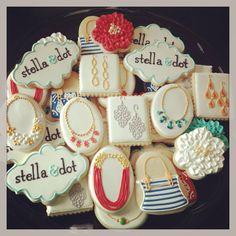 Stella and Dot cookies - pretty stinkin cute and would make for a great thank you gift for everyone who came/purchased.