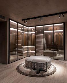 Over 400 square meters in the heart of Sarrià-Sant Gervasi district Walk In Closet Design, Bedroom Closet Design, Home Room Design, Bathroom Interior Design, Luxury Bedroom Design, Wardrobe Door Designs, Closet Designs, Wardrobe Room, Dressing Room Design