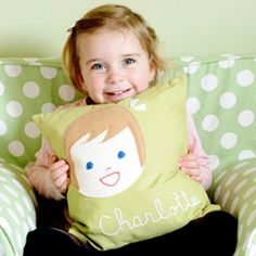 sarah + abraham - personalized stationery and gifts for children Personalized Gifts For Kids, Personalized Pillows, Personalized Stickers, Personalized Stationery, Customized Gifts, Cute Pillows, Kids Pillows, Decorative Throw Pillows, Childrens Throws