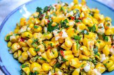 Mais med fetaost og harissa