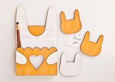 Koelkastmagneten - magneet, koelkast magneten, konijn, geel - Een uniek product van Julia-Wine op DaWanda