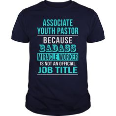 Associate Youth Pastor T-Shirts, Hoodies. GET IT ==► https://www.sunfrog.com/LifeStyle/Associate-Youth-Pastor-Navy-Blue-Guys.html?41382